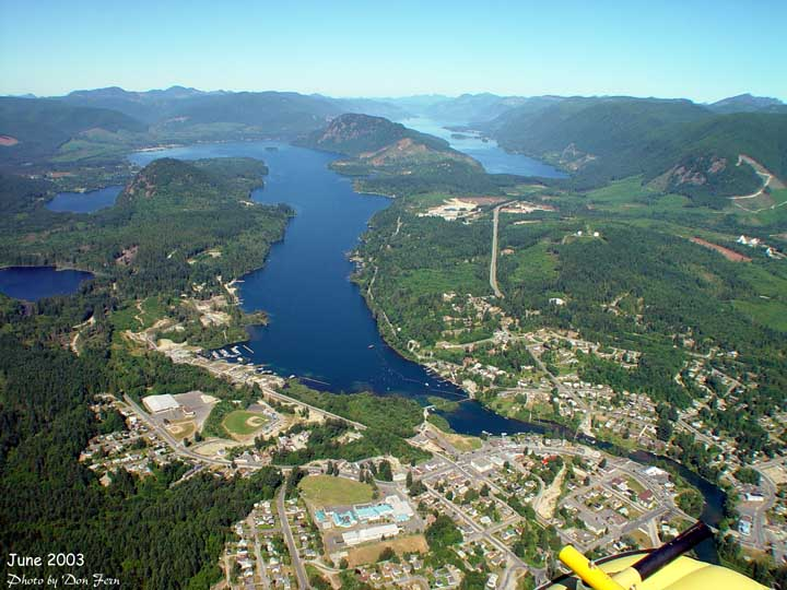 Lake Cowichan from the Air