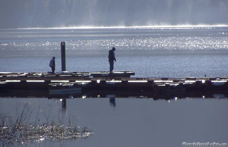 Fishing in Lake Cowichan