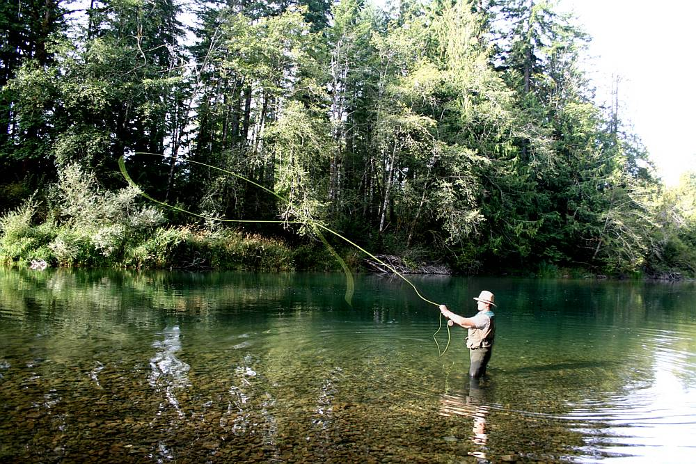 Fly Fishing in the Cowichan River